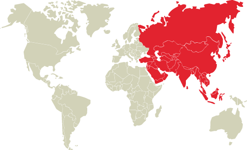 world region as